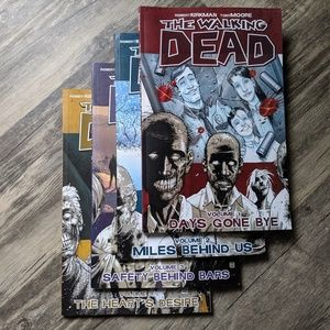 THE WALKING DEAD VOLUMES 1-4 bundle
